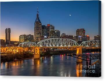 Nashville Tennessee Canvas Print - Downtown Nashville by Anthony Heflin