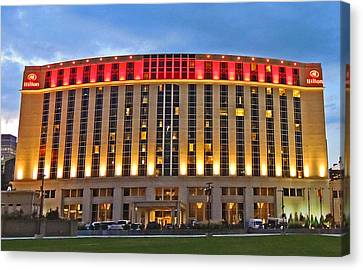 Downtown Nashville Hilton Canvas Print by Marian Bell