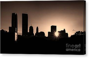 Canvas Print featuring the photograph Downtown Oklahoma City by Betty LaRue