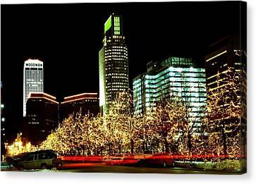 Downtown Omaha Skyline Canvas Print by Jetson Nguyen