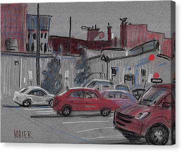 Downtown Parking Canvas Print by Donald Maier