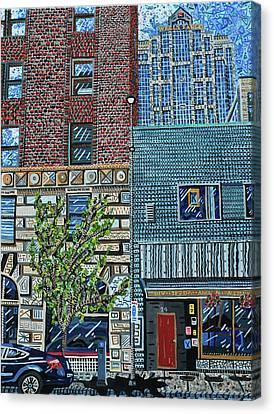 Downtown Raleigh - West Martin Street Canvas Print by Micah Mullen