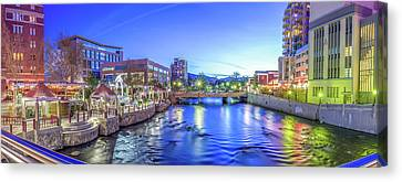 Downtown Reno Summer Twilight Canvas Print by Scott McGuire