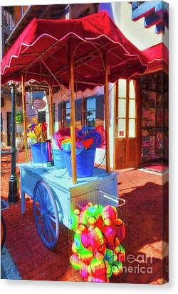 Toy Shop Canvas Print - Downtown Rosemary Beach Florida by Mel Steinhauer