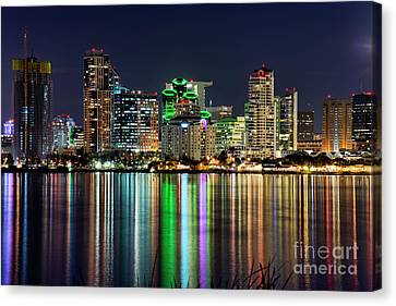 Canvas Print featuring the photograph Downtown San Diego by Eddie Yerkish