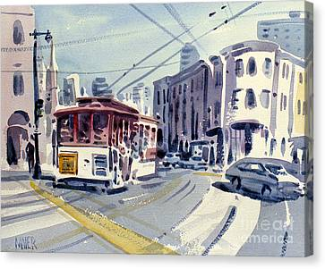 Downtown San Francisco Canvas Print by Donald Maier