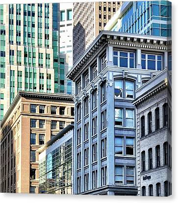 Downtown San Francisco Canvas Print by Julie Gebhardt