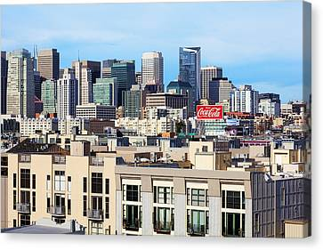 Downtown San Francisco Canvas Print by Kelley King