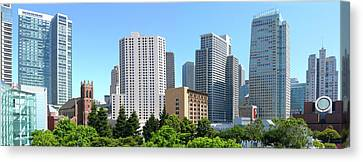 Canvas Print featuring the photograph Downtown San Fransisco by Mike McGlothlen