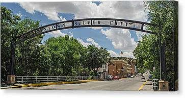 Downtown Silver City Canvas Print by Allen Sheffield