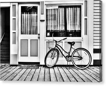 Panel Door Canvas Print - Downtown Skagway 2 Bw by Mel Steinhauer