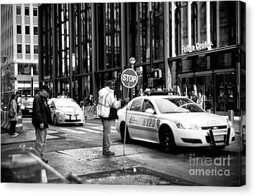 Downtown Stop Canvas Print