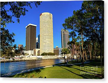 Downtown Tampa Sykes And Bbandt Buildings Canvas Print