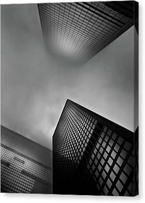 Canvas Print featuring the photograph Downtown Toronto Fogfest No 1 by Brian Carson