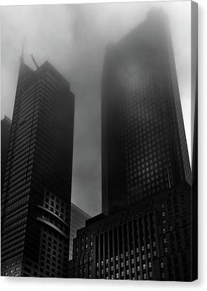 Canvas Print featuring the photograph Downtown Toronto Fogfest No 2 by Brian Carson