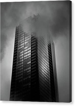 Downtown Toronto Fogfest No 24 Canvas Print by Brian Carson