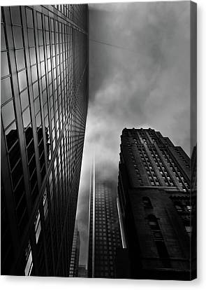 Canvas Print featuring the photograph Downtown Toronto Fogfest No 4 by Brian Carson
