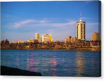 Canvas Print featuring the photograph Downtown Tulsa From A Distance - Oklahoma Skyline  by Gregory Ballos