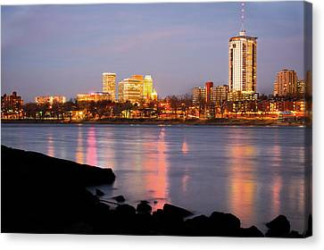 Downtown Tulsa Oklahoma - University Tower View Canvas Print by Gregory Ballos