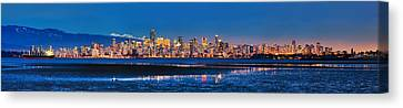 Downtown Vancouver From Spanish Banks Beach Canvas Print by Alexis Birkill