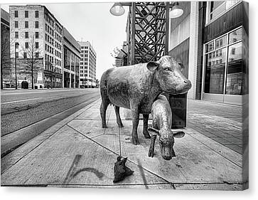 Canvas Print featuring the photograph Downtown Wichita by JC Findley