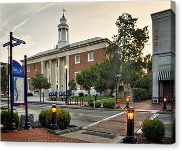 Crosswalk Canvas Print - Downtown Wilmington Post Office by Greg and Chrystal Mimbs