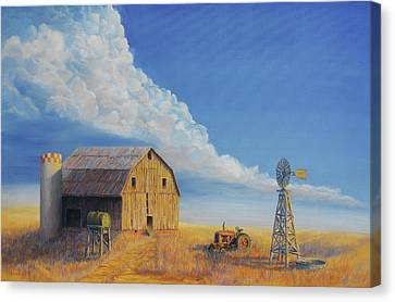 Downtown Wyoming Canvas Print by Jerry McElroy