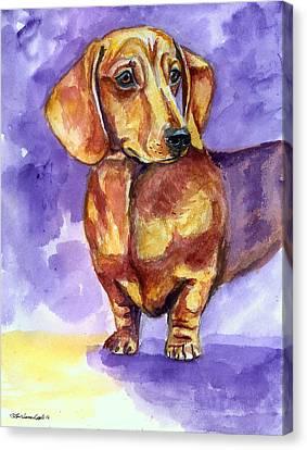 Doxie - Dachshund Dog Canvas Print by Lyn Cook