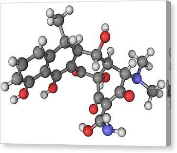 Doxycycline Antibiotic Molecule Canvas Print by Laguna Design