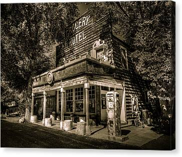 Doyle Grocery And Hotel Canvas Print