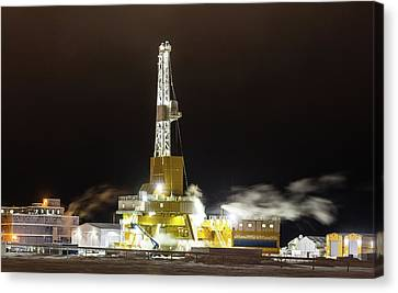 Doyon Drilling Rig And Camp Canvas Print by Sam Amato