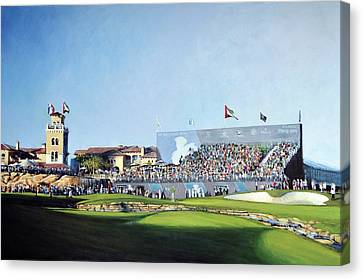 Dp World Tour Championship 2015 - Open Edition Canvas Print by Mark Robinson