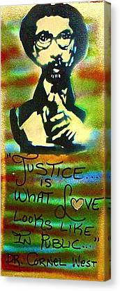 Dr. Cornel West Justice Canvas Print by Tony B Conscious