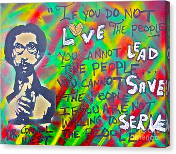 Dr. Cornel West  Love The People Canvas Print by Tony B Conscious