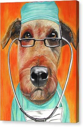 Dr. Dog Canvas Print by Michelle Hayden-Marsan
