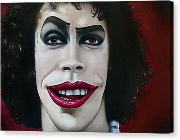 Dr. Frank-n-furter Canvas Print by Kalie Hoodhood