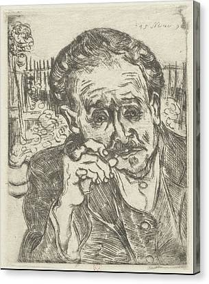 Real Experiences Canvas Print - Dr. Gachet Man With A Pipe 1890 by Vincent Van Gogh