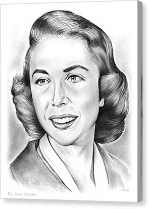 Dr. Joyce Brothers Canvas Print by Greg Joens