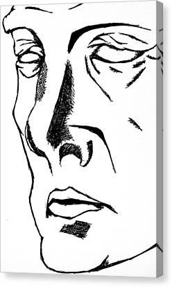 Dr Manhattan Bw Canvas Print