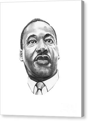 Dr. Martin Luther King Canvas Print by Murphy Elliott