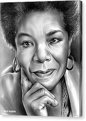 Dr Maya Angelou Canvas Print by Greg Joens