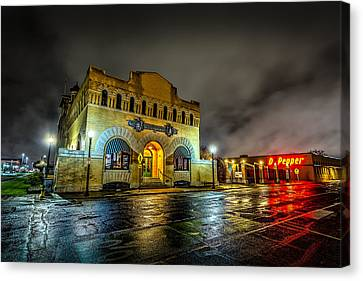 Canvas Print featuring the photograph Dr Pepper Museum by David Morefield