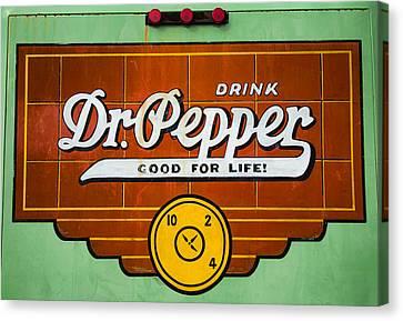 Dr Pepper Truck Sign Canvas Print