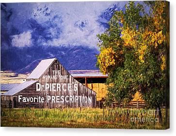 Dr. Pierce's Favorite Prescription Barn Canvas Print