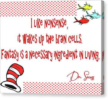 Dr Seuss Inspiration Canvas Print by Dan Sproul