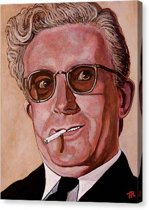 Canvas Print featuring the painting Dr Strangelove 2 by Tom Roderick
