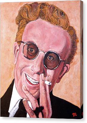 Canvas Print featuring the painting Dr Strangelove  by Tom Roderick