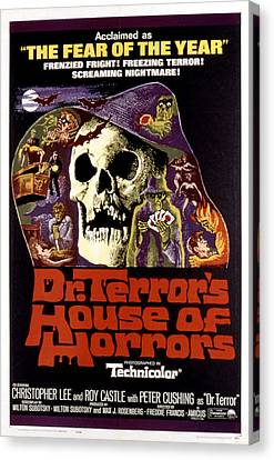 Dr. Terrors House Of Horrors, Poster Canvas Print by Everett