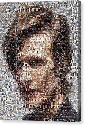 Dr. Who Mosaic Canvas Print by Paul Van Scott
