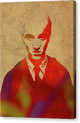Draco Malfoy From Harry Potter Watercolor Portrait Canvas Print by Design Turnpike